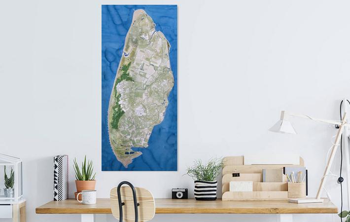 01 Texel Landkaart in Aquarel