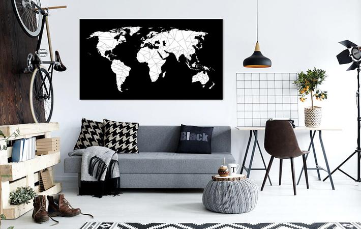 19 Geometrische Wereldkaart WopZ