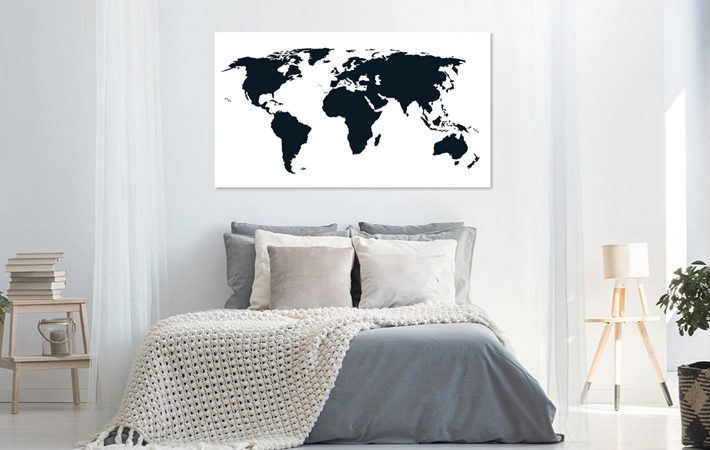 21 Wereldkaart Puur Zwart