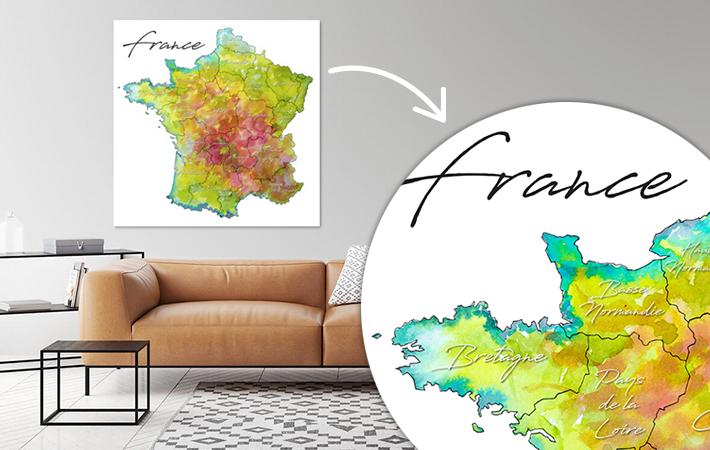 13 Frankrijk Provincies Aquarel