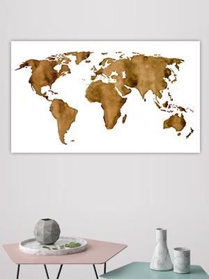 Spotlight-Espresso Wereldkaart