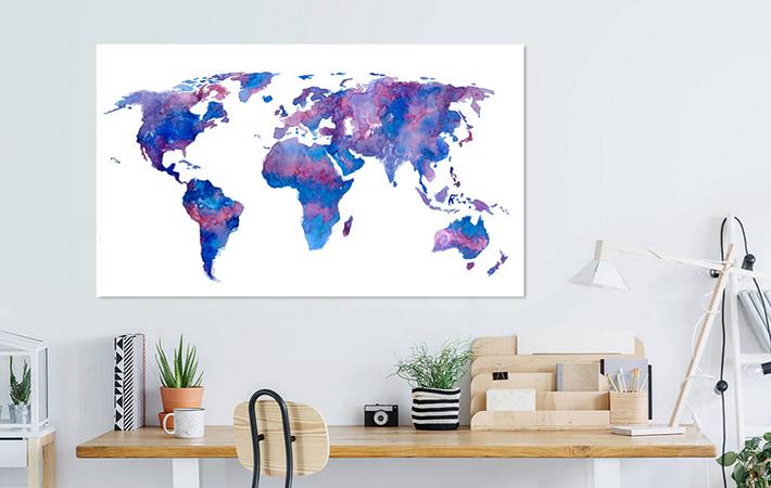 27 Wereldkaart Aquael Paars Blauw