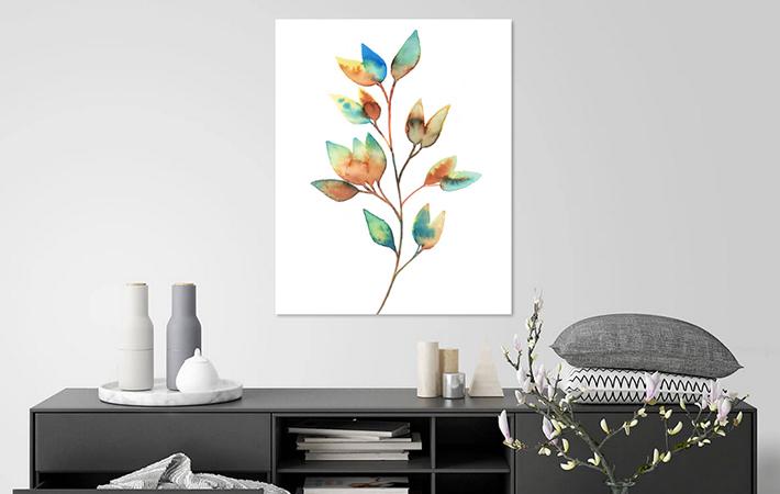 28 Kleurrijke bladeren in Aquarel