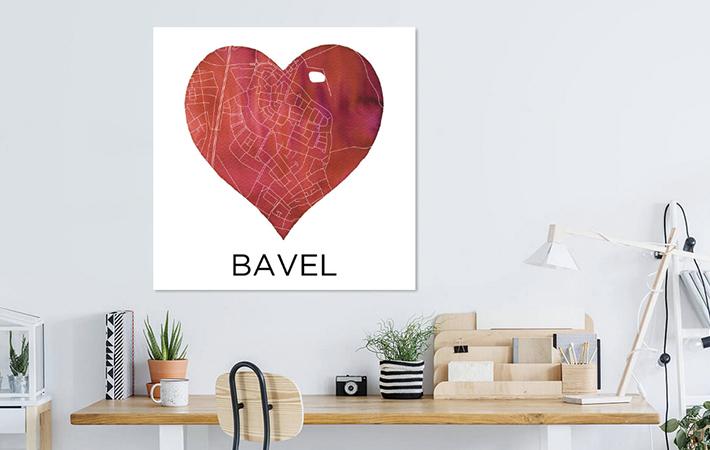 Bavel in rode hart