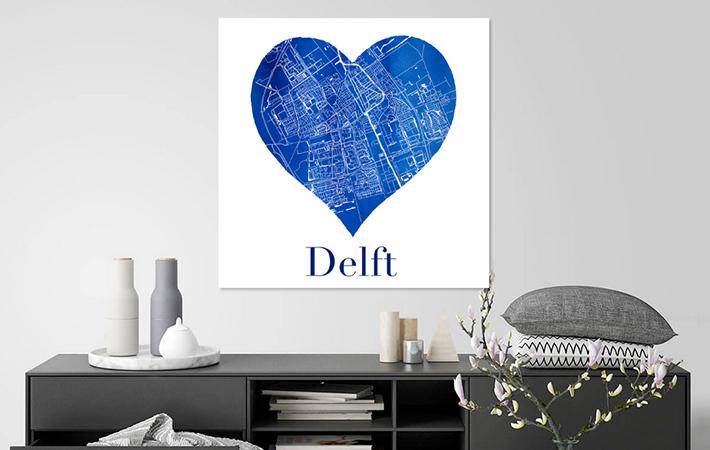 Delft in Delfts blauwe hart