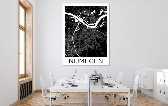Nijmegen - Stadskaart Zwartwit