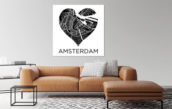Amsterdam in hart Zwartwit