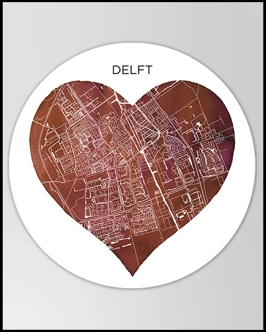 Wandcirkel Delft Hover