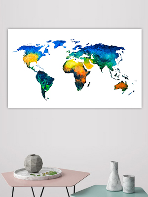 Button Wereldkaarten