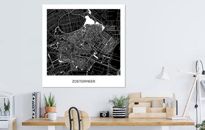 Zoetermeer - Stadskaart Vierkant ZW