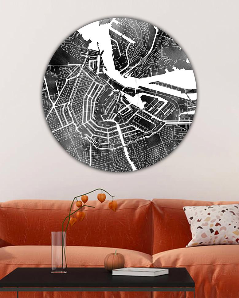 001-02 Amsterdam Black Clouds Wandcirkel_lr