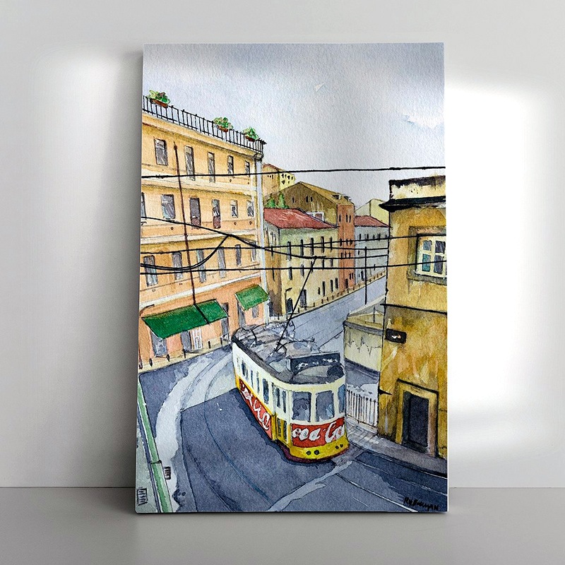 01 Tram 28 Lissabon als Canvas