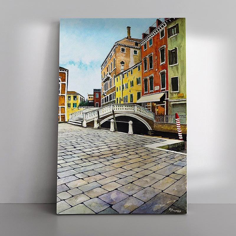 03 Venetie Brug als Canvas