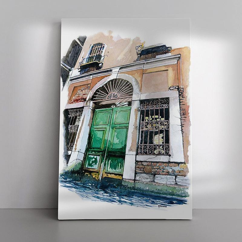 06 Oude deur in Venetië als Canvas