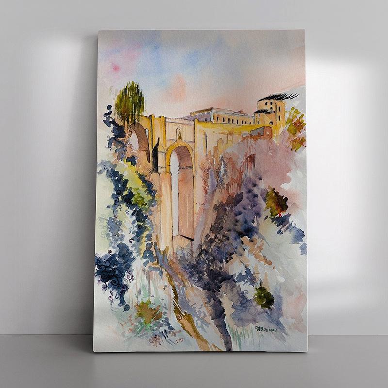 07 Ronda Bridge als Canvas