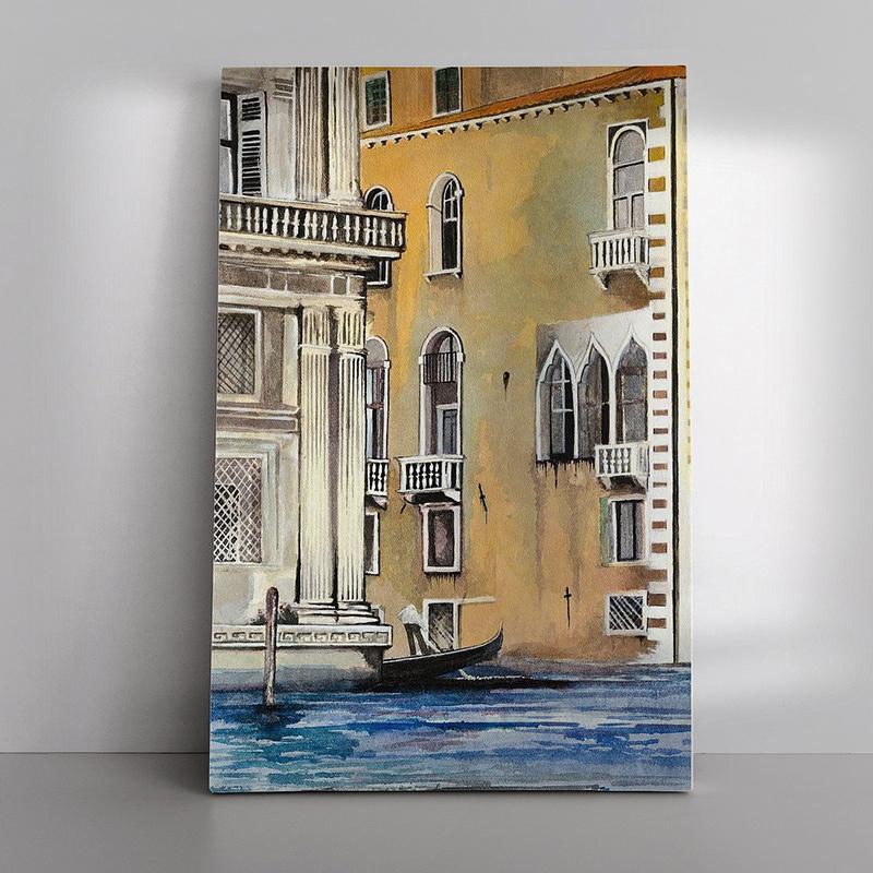 10 Gondelrit in Venetië als Canvas